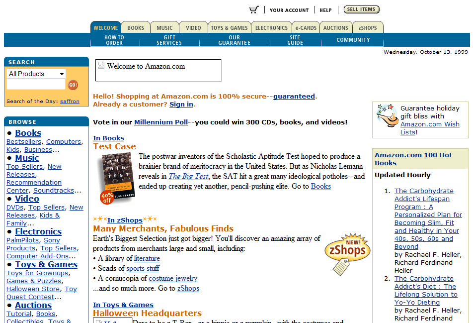 Amazon.com в 1999 году
