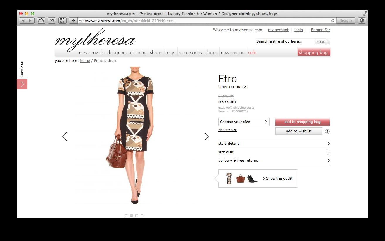 Платье из комплекта на mytheresa.com